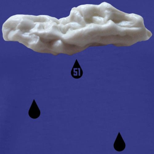 Nuvola con gocce nere - Maglietta Premium da uomo