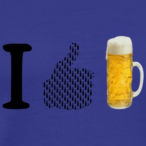 I like beer - Men's Premium T-Shirt