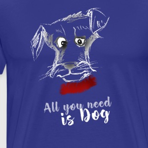 dog dog terrier drawing pointing - Men's Premium T-Shirt