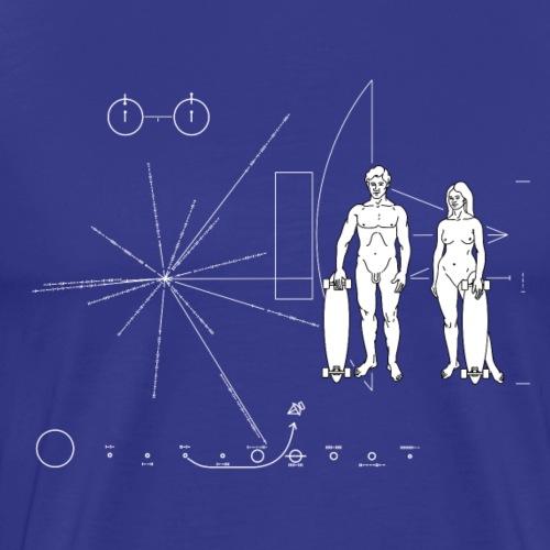 Pioneer plaque Skateboarder - T-shirt Premium Homme