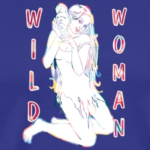 wild woman sexy girl - Men's Premium T-Shirt
