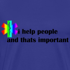 i help people - Mannen Premium T-shirt