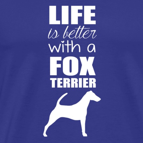 DOG FOX TERRIER WHITE - T-shirt Premium Homme
