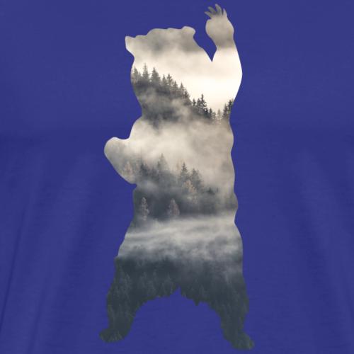 Bär Wald-Nebel - Männer Premium T-Shirt