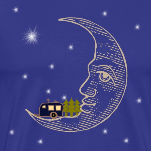Camping RVing on The Moon - Men's Premium T-Shirt