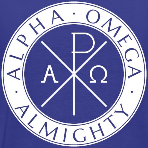Alpha Omega Almighty White - Männer Premium T-Shirt