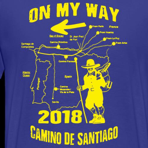 PILGER Jakobsweg 2018 Camino de Santiago Weg Route - Männer Premium T-Shirt