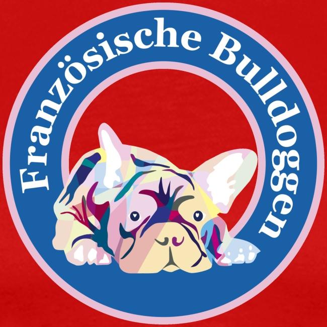 Französische Bulldoggen rosa blau