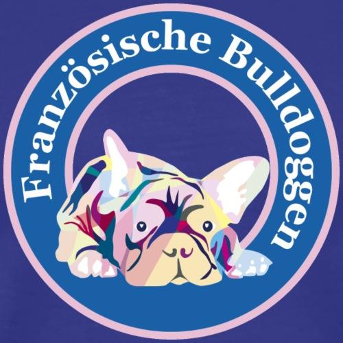 Französische Bulldoggen rosa blau - Männer Premium T-Shirt