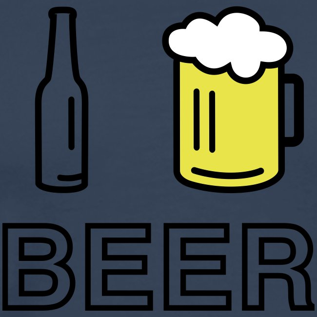 I Love Beer (3-farbig)