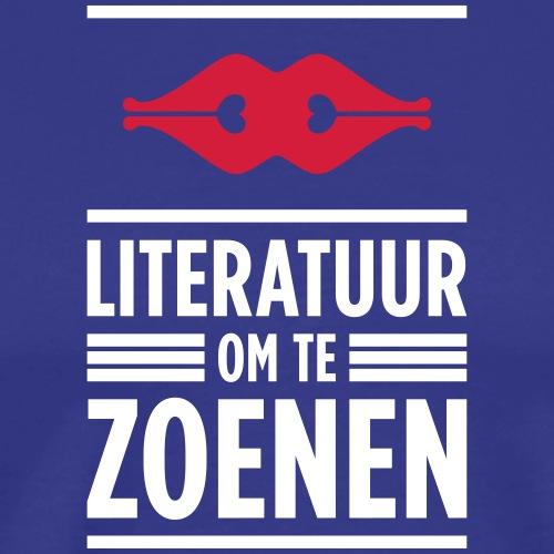 Literatuur om te zoenen - Mannen Premium T-shirt