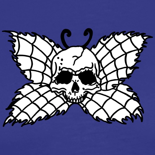 2 colors - Butterfly Skull Poison Deadly - Männer Premium T-Shirt