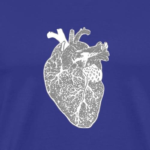 Herz, Röntgen, Zentangle - Männer Premium T-Shirt