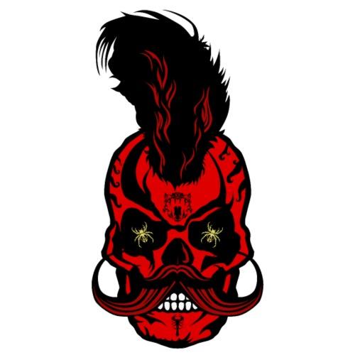 tete de mort crane hipster moustachu moustache tat - T-shirt Premium Homme