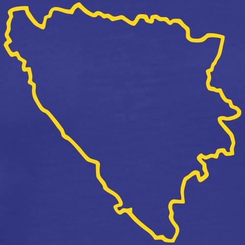 Bosnien Kontur - Männer Premium T-Shirt
