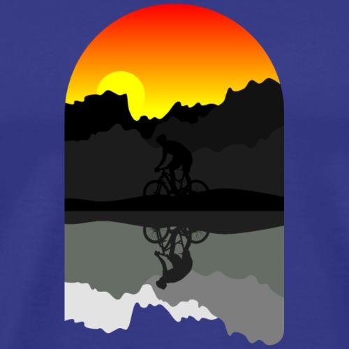 Biker Sonnenuntergang dunkel - Männer Premium T-Shirt