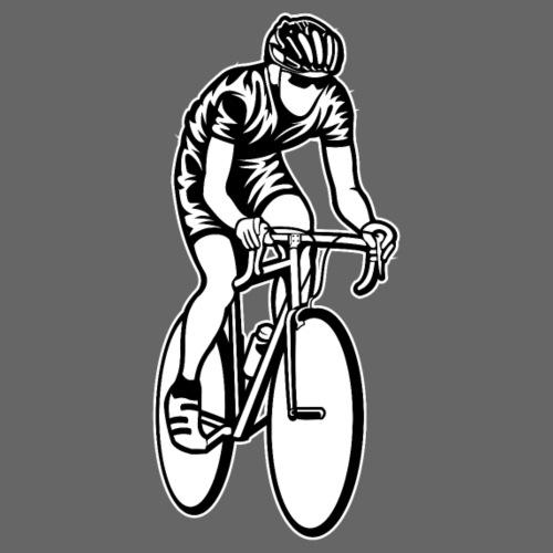 Rennrad / Racing Bicycle 01_schwarz weiß - Männer Premium T-Shirt