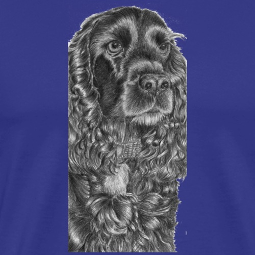 cockerSpaniel black - M - Herre premium T-shirt