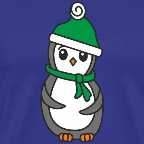 Pinguin mit Mütze und Schal - Männer Premium T-Shirt
