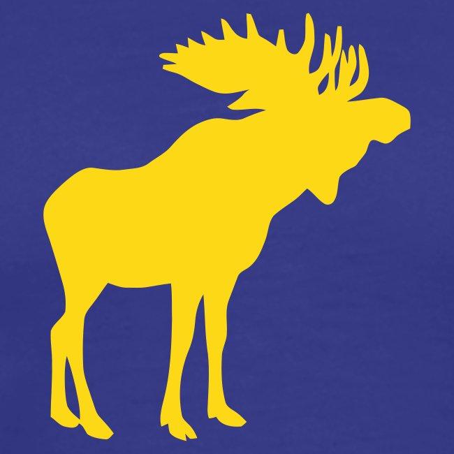 Stattlicher schwedischer Elch Älg Moose Schweden