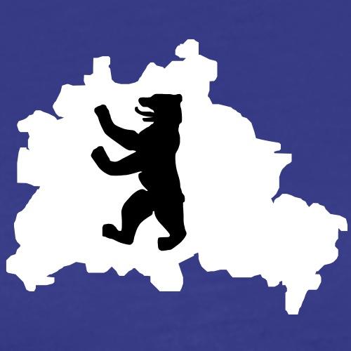 2 col - Berliner Bär Hauptstadt Bundestag - Männer Premium T-Shirt