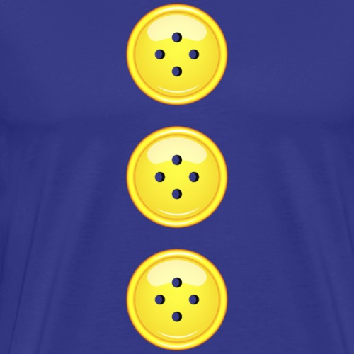 3 gelbe Knöpfe Knopf Buttons modische Accessoires - Men's Premium T-Shirt