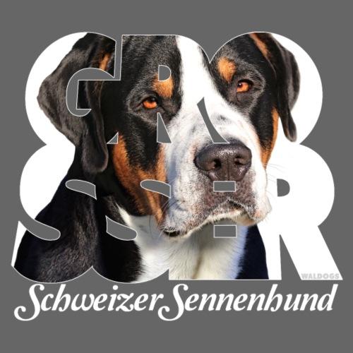 Grosser Schweizer Sennenhund - Miesten premium t-paita