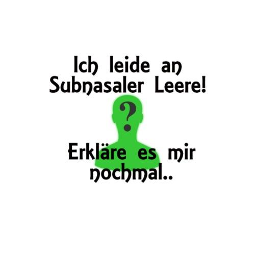 Subnasale Leere - Männer Premium T-Shirt