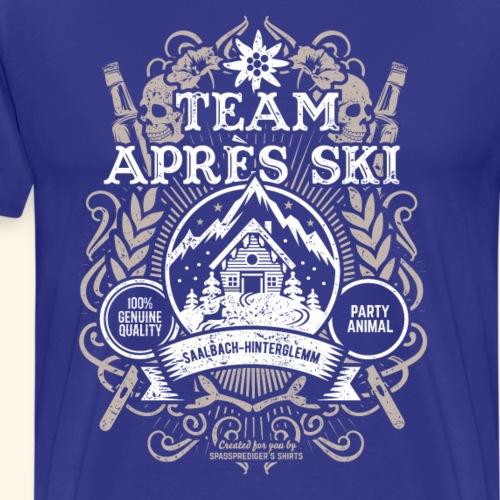 Saalbach T-Shirt Design Team Apres Ski - Männer Premium T-Shirt