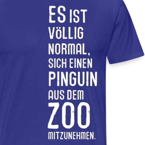 Pinguin Zoo Südpol Antarktis Vogel Vögel Schnee - Men's Premium T-Shirt