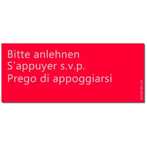 Schild «Bitte anlehnen», dreisprachig, rot - Männer Premium T-Shirt