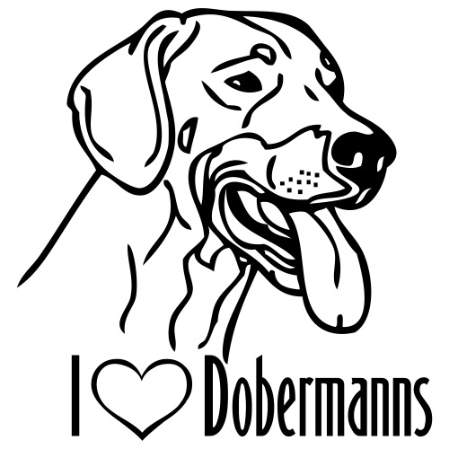 dobermann © - www.dog-power.nl - Mannen Premium T-shirt