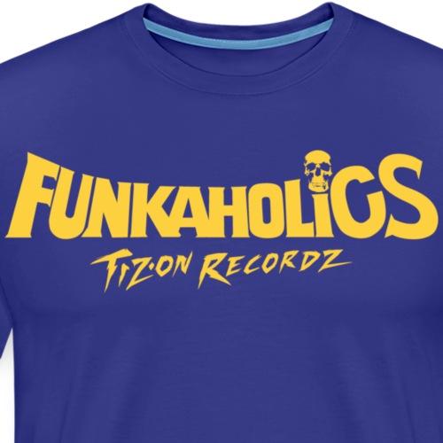 logo_funkaholics_yellow - T-shirt Premium Homme