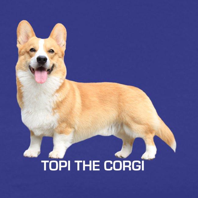 Topi the Corgi - White text