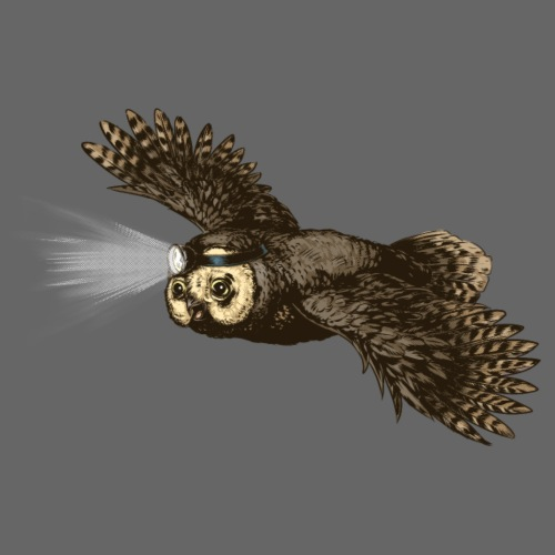 Owl_headlight - Men's Premium T-Shirt
