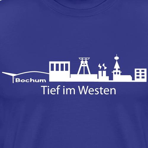 Skyline Bochum Tief im Westen - Männer Premium T-Shirt