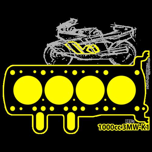 design T shirt BM W K1 gelb emblem - T-shirt Premium Homme