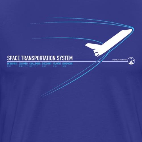 Space Shuttle (stampa blu) - Maglietta Premium da uomo