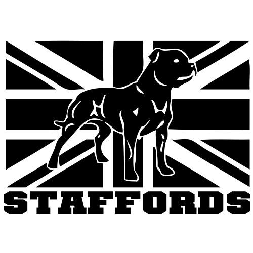 stafford - www.dog-power.nl © - Mannen Premium T-shirt