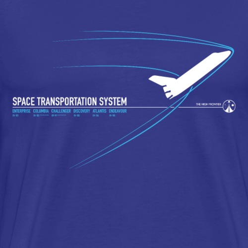 Space Shuttle (Blue print) - Men's Premium T-Shirt