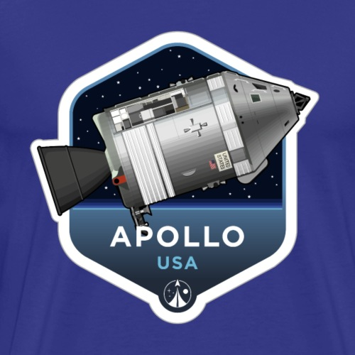 Space Race Series: APOLLO (large print) - Men's Premium T-Shirt