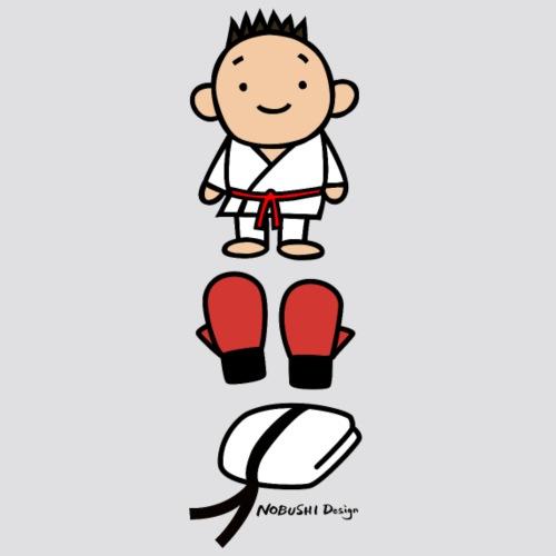 Karate goederen rood - Mannen Premium T-shirt