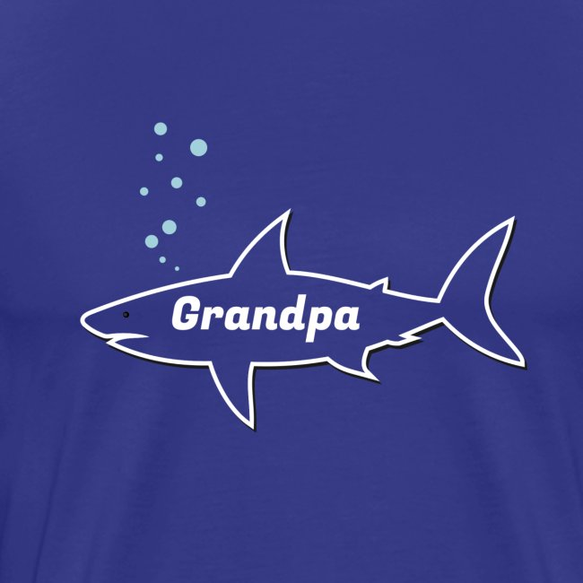 Grandpa shark - Fathers day gift - matching outfit