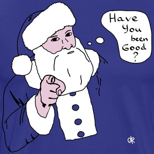 T-shirt/ Santa's question / Weihnachtsmann's Frage - Männer Premium T-Shirt