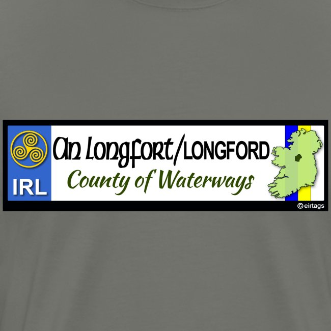 LONGFORD, IRELAND: licence plate tag style decal