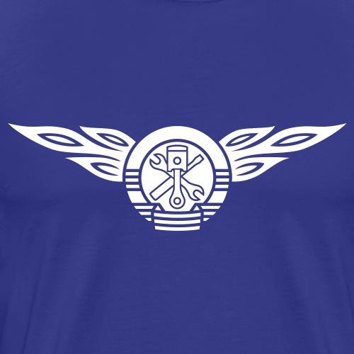 Car flames crest 1c - Men's Premium T-Shirt