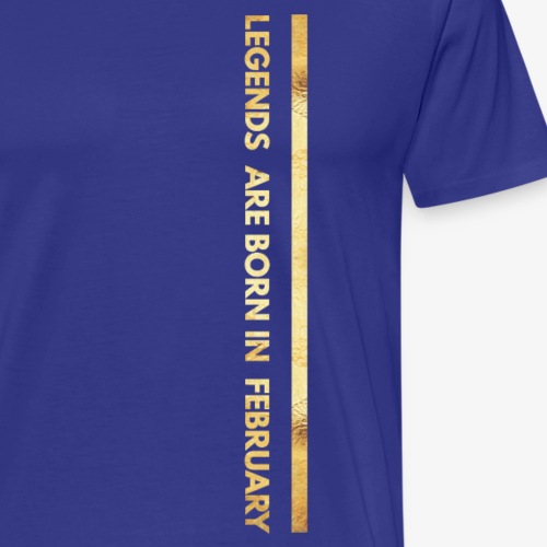 Born in february - verjaardag shirt design - Mannen Premium T-shirt