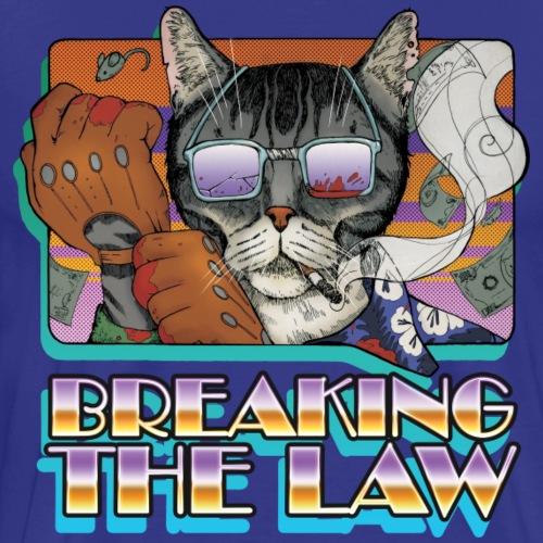 Crime Cat in Shades - Braking the Law - Koszulka męska Premium