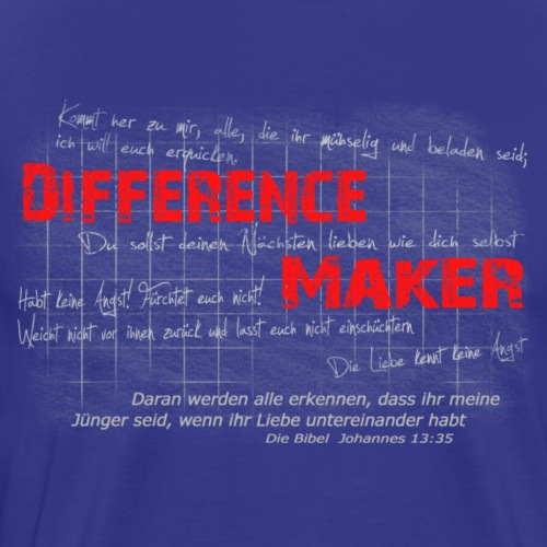 Difference Maker hell - Männer Premium T-Shirt