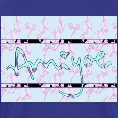AMIYOE motivo orquideas remix - Camiseta premium hombre